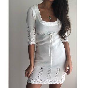 Yank cream knit sweater dress M